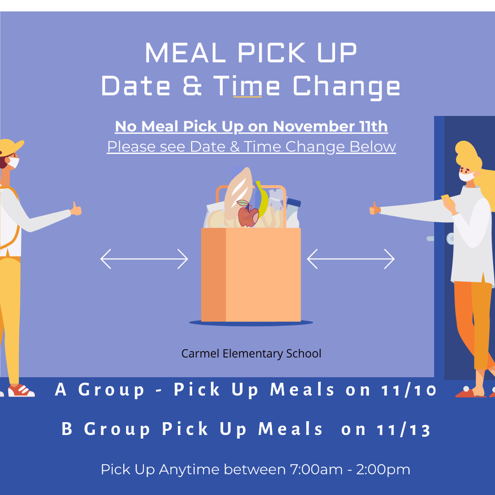 Meal Pick Up Date & Time Change